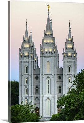 Morning over the Salt Lake Temple, Salt Lake City, Utah