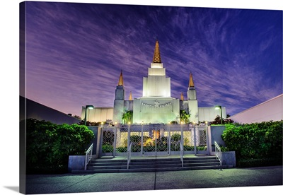 Oakland California Temple at Twilight, Oakland, California