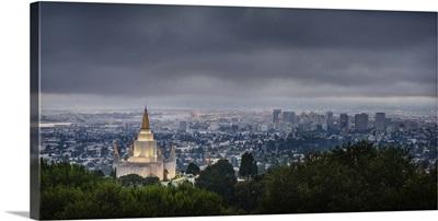 Oakland California Temple, Blue Clouds, Oakland, California