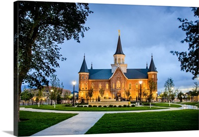 Provo City Center Temple, Side View at Twilight, Provo, Utah