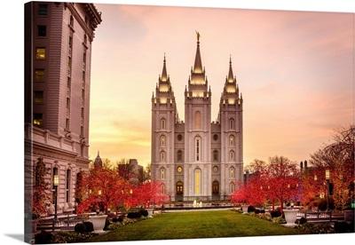 Salt Lake Temple, Christmas, Salt Lake City, Utah