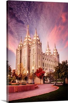 Salt Lake Temple, Pink Sunrise, Salt Lake City, Utah