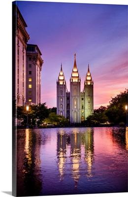 Salt Lake Temple, Reflection, Salt Lake City, Utah