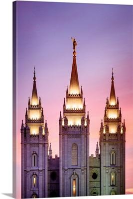 Salt Lake Temple Spires, Salt Lake City, Utah