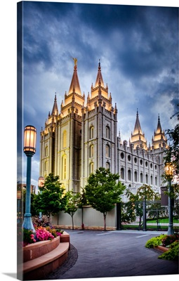 Salt Lake Temple, Strong Blue Sky, Salt Lake City, Utah