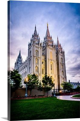 Salt Lake Temple, Sunset, Salt Lake City, Utah