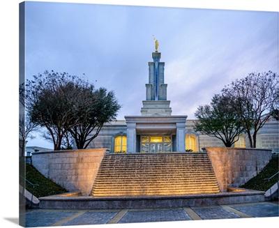San Antonio Texas Temple, Fountain and Front Entrance, San Antonio, Texas