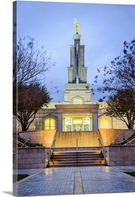 San Antonio Texas Temple, Twilight, San Antonio, Texas