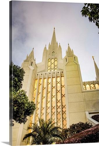 San Diego California Temple, Looking Up, San Diego, California Wall ...