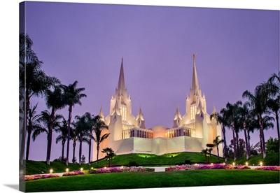 San Diego California Temple, Purple Morning, San Diego, California