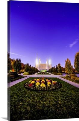 Washington DC Temple, Flower Patch at Twilight, South Kensington, Maryland