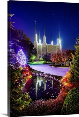 Washington DC Temple, Night Reflections, South Kensington, Maryland