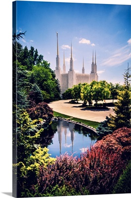 Washington DC Temple, Reflection in the Water, South Kensington, Maryland