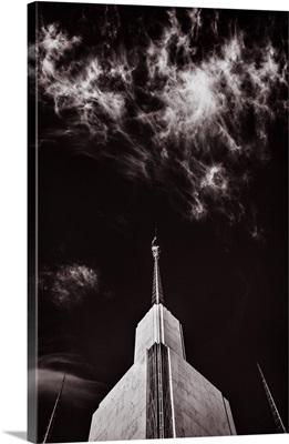 Washington DC Temple Spires, Black and White, South Kensington, Maryland