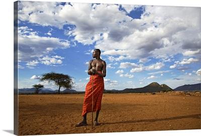 African Samburu Tribesman, Kenya, Africa