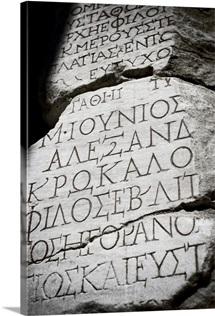 Ancient writing on walls, Ephesus, Turkey