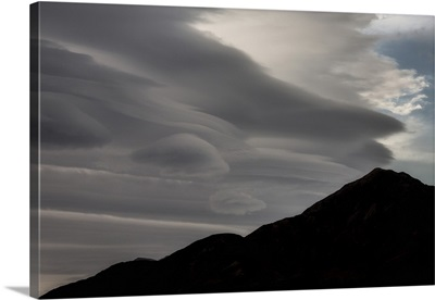 Beautiful cloud formation in Death Valley National Park