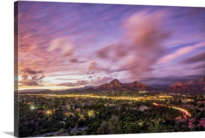 Beautiful Sunset Over Sedona, Arizona