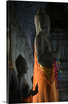 Buddhas inside Ankor Wat temple, Cambodia, South East Asia