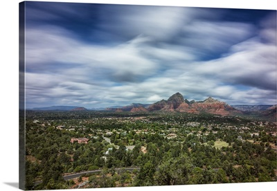 Clouds and red rocks in Sedona, Arizona