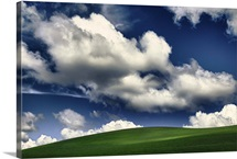 Clouds over the fields, Palouse, Washington