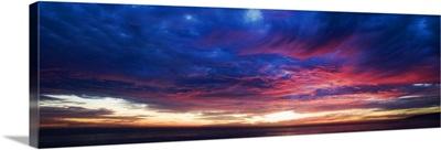 Colorful sunset over Malibu, California