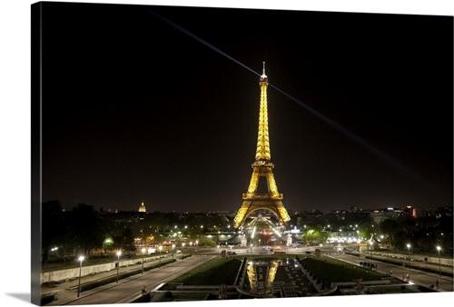 Eiffel Tower At Night Wall Art Canvas Prints Framed Prints Wall Peels Great Big Canvas