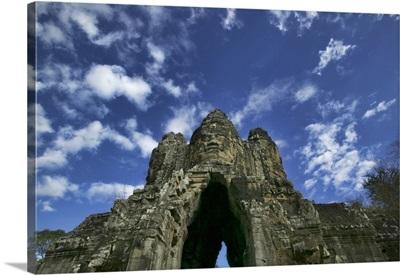 Entrance to the Bayon in Angkor wat , Cambodia