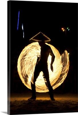 Fire dancer in Koh Pan Ghan, Thailand