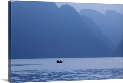 Fishermen at Sunrise, Halong Bay, Hanoi, Vietnam
