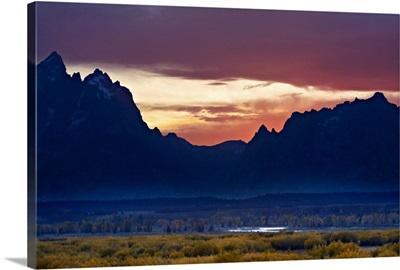 Grand Tetons at Sunset, Jackson Hole, Wyoming