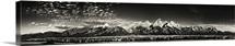Grand Tetons panorama at sunrise, Jackson Hole, Wyoming