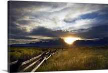 Grassy Sunset in Jackson Hole, Wyoming