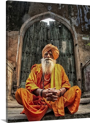 Holy Man in Old Delhi inRaisthan, India