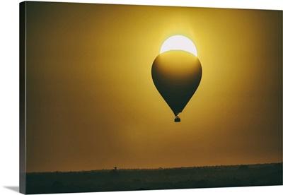 Hot air balloon at sunrise over Bagan, Myanmar