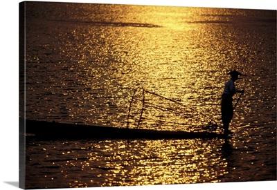 Inle Lake fisherman in Inle Lake, Burma
