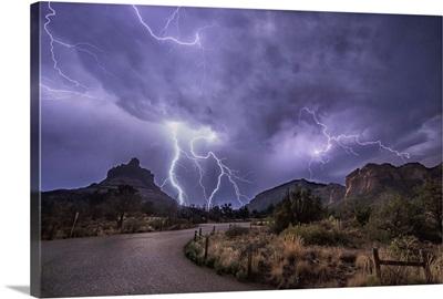 Lightning over Sedona, Arizona