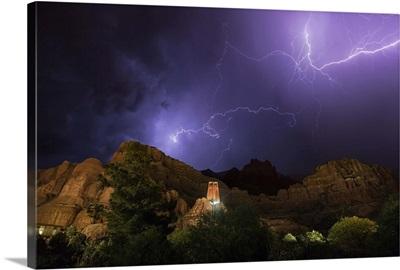 Lightning storm over Sedona, Arizona