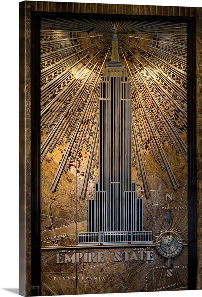 Lobby Of The Empire State Building Wall Art Canvas Prints