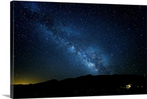 Milky Way galaxy at night in Death Valley National Park