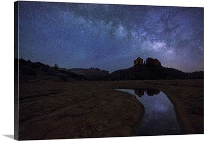 Milky Way over Cathedral Rocks in Sedona