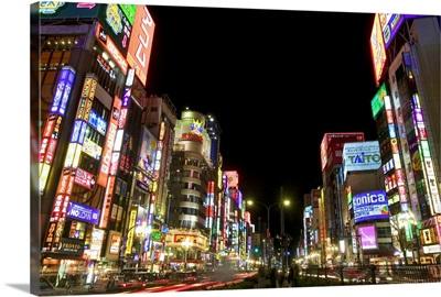 Neon Lights in Shin Juku, Tokyo, Japan