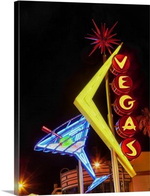 Neon on the Las Vegas strip at night