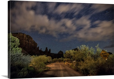 Night sky above Sedona