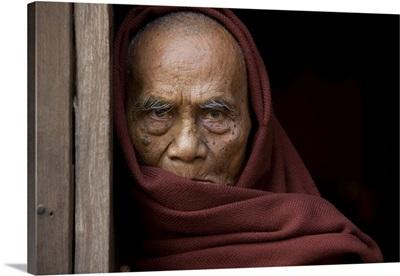 Old monk master, Bagan, Burma