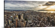 Panorama view from the Empire State Building, New York