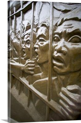 Plaque inside Tuol Sleng prison, Phnom Penh, Cambodia