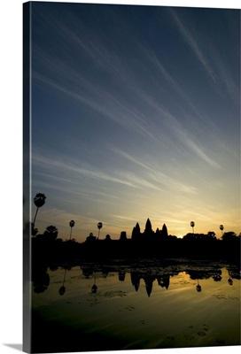 Reflecting pool at sunrise, Angkor Wat temple, Cambodia