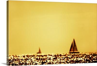 Sailboats at sunset, Marina Del Ray, California