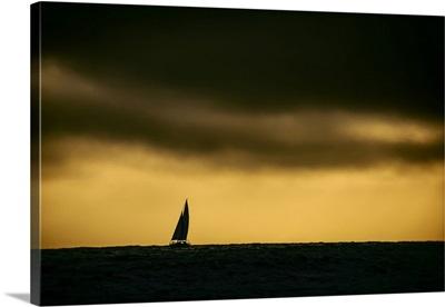 Sailing Off The Coast Of Malibu